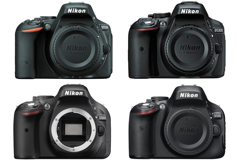 Nikon-D5500-VS-5300-5200-5100