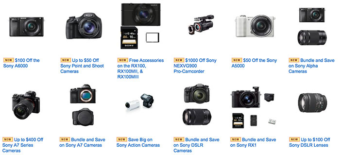 Sony-cameras-Amazon-deals