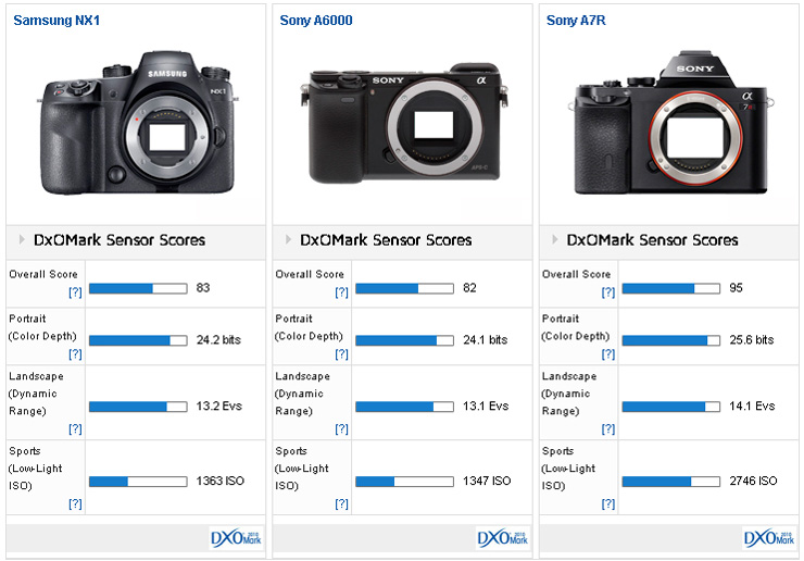 Samsung NX1 comparison