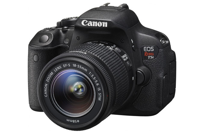 canon t5i + 18-55mm lens