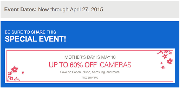 mother's day 2015 camera DEALS