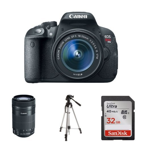 Canon EOS T5i +18-55 and 55-250 lens deals