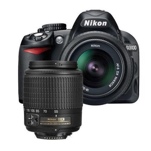 Nikon D3100 and lenses kit