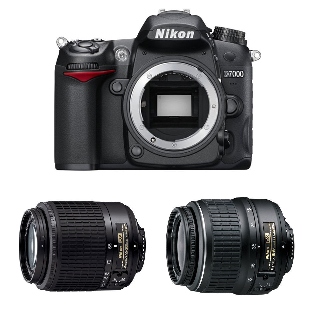 Nikon d7000 with two lens