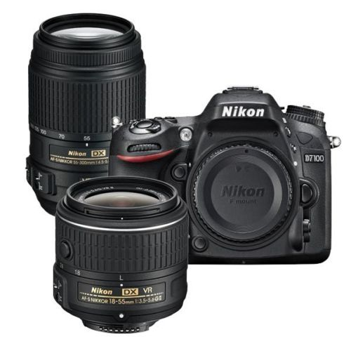 Nikon Refurbished D7100 DSLR with 55-300 VR and 18-55mm