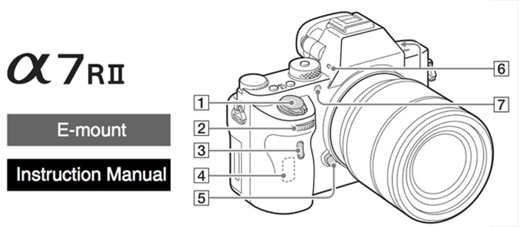 Sony A7R II manual
