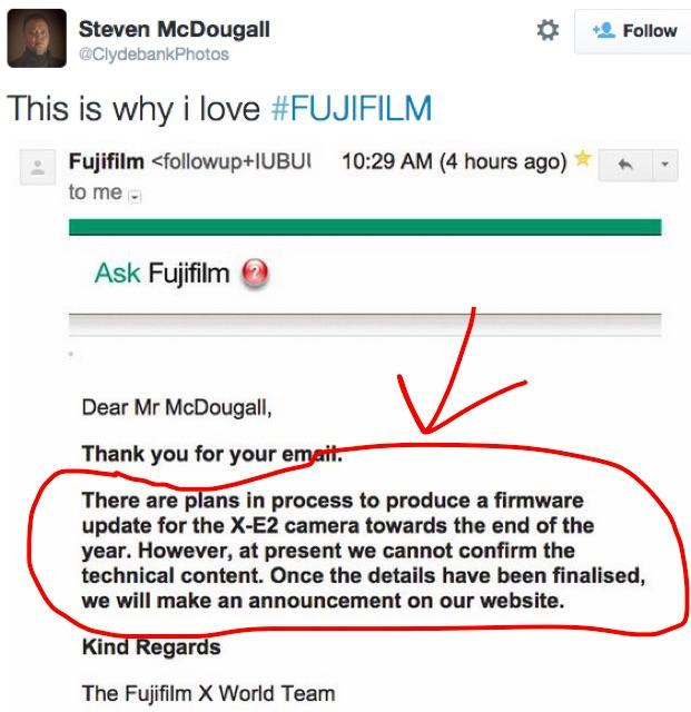 fujifilm X-E2 firmware