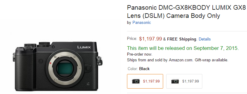 Panasonic GX8 delayed
