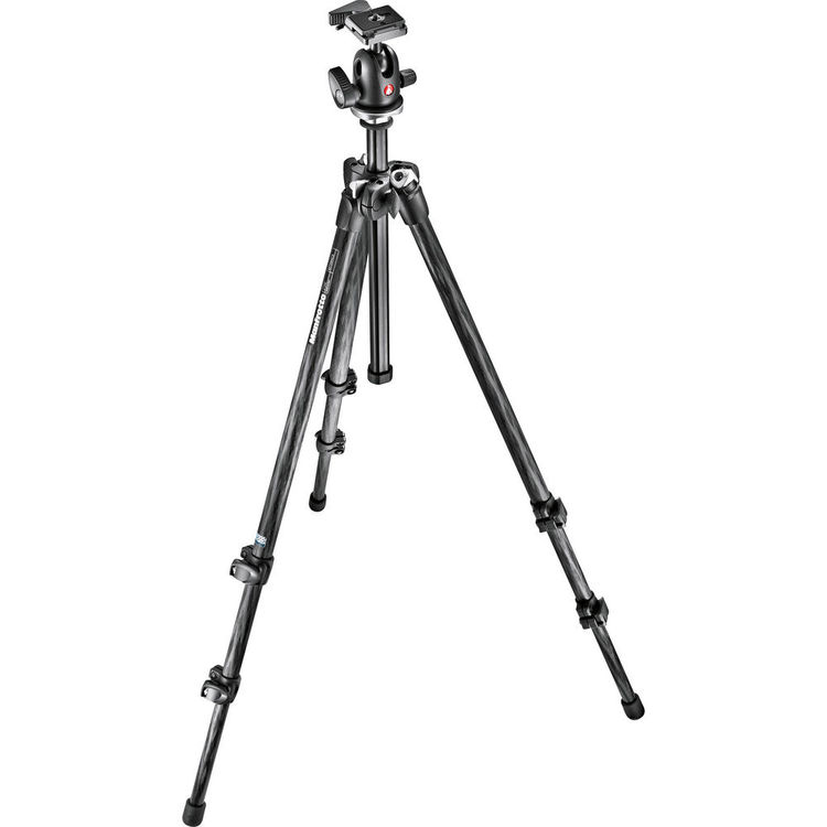 Manfrotto 294 Carbon Fiber Tripod with 496RC2 Ball Head