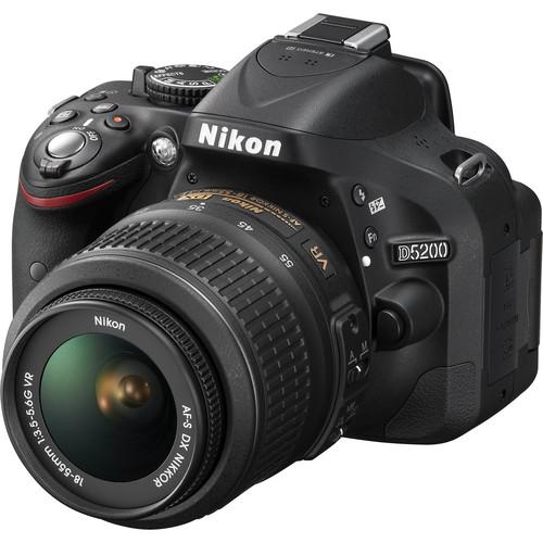 Nikon d5200 w 18-55mm lens