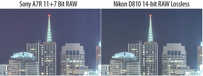 Sony a7R II 7bit RAW Vs Nikon D810 14 Bit RAW
