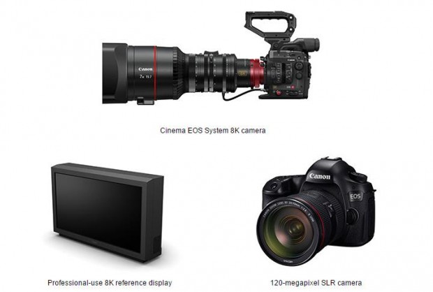 canon-120mp-dslr-camera and 8K cinema camera and display