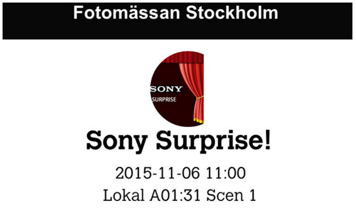 Sony Surprice event