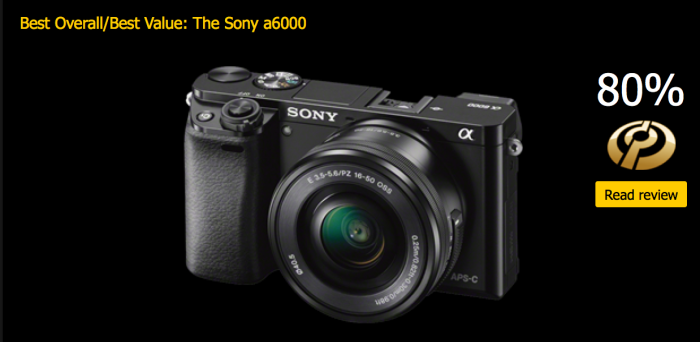 The Sony A6000 best value