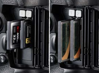 Nikon-D5-XQD-CF-memory-card-slots