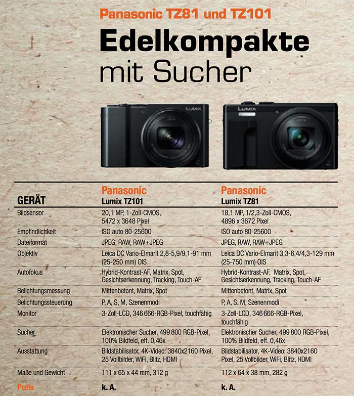 Panasonic TZ80-100 specs