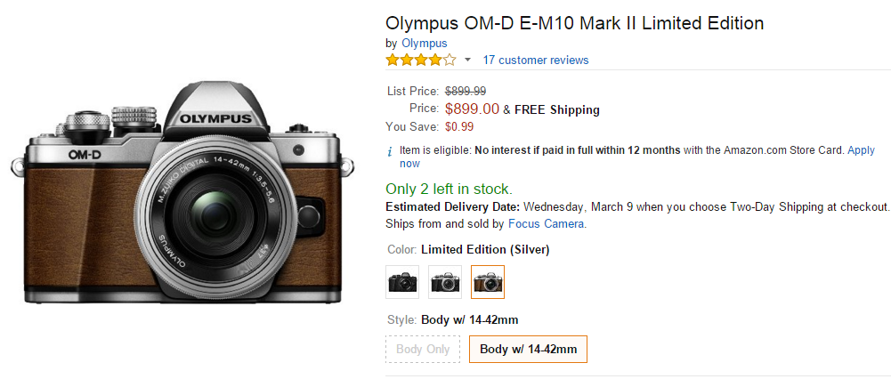 Olympus E-M10 Mark II limited Edition