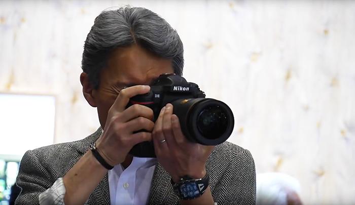 Sony CEO testing Nikon camera