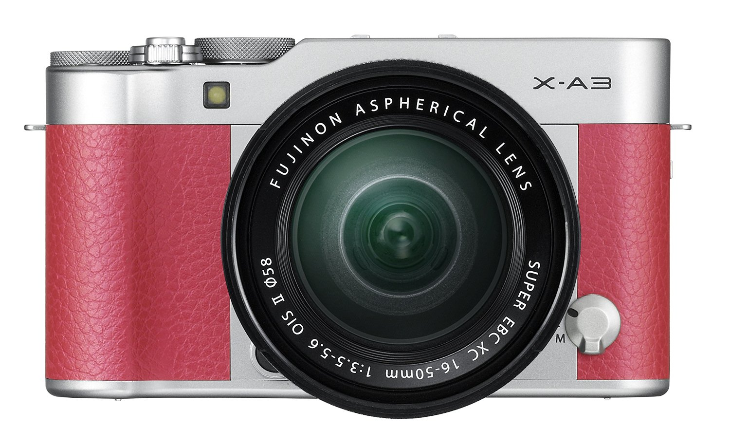 Fujifilm X-A3 with XC 16-50mm lens kit pink