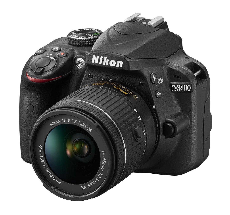 Nikon D3400 w AF-P DX 18-55mm lens