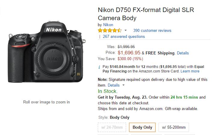 Nikon D750 deals