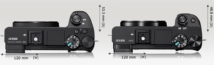 a6500-a6300-size-comparison