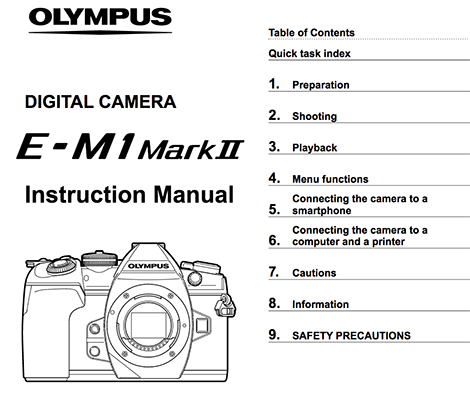 olympus-e-m1-mark-ii-manual-download