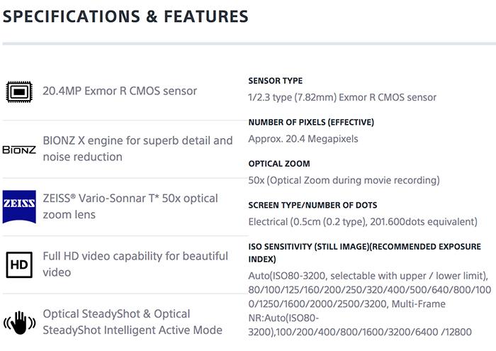 sony-hx350specs