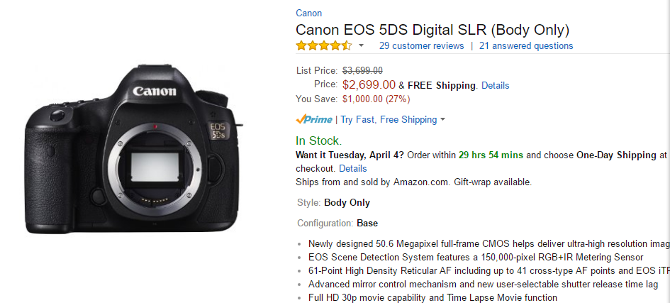 canon 5ds deal