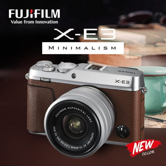 Fujifilm-X-E3-brown