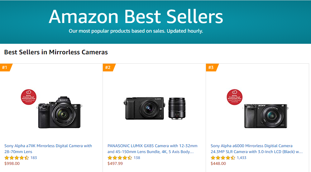 Amazon Best Mirrorless Seller: Sony A7 II with 28-70mm Lens!
