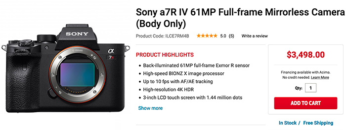 Sony A7R IV First In Stock at FocusCamera