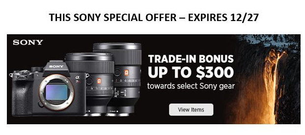 Hot Deals: Up to $300 Trade-In Bonus for Some Sony Gears